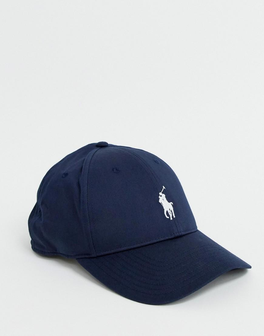 5baef5b589e18 Polo Ralph Lauren Baseball Cap In Textured Fabric With Polo Player In Navy in  Blue for Men - Lyst