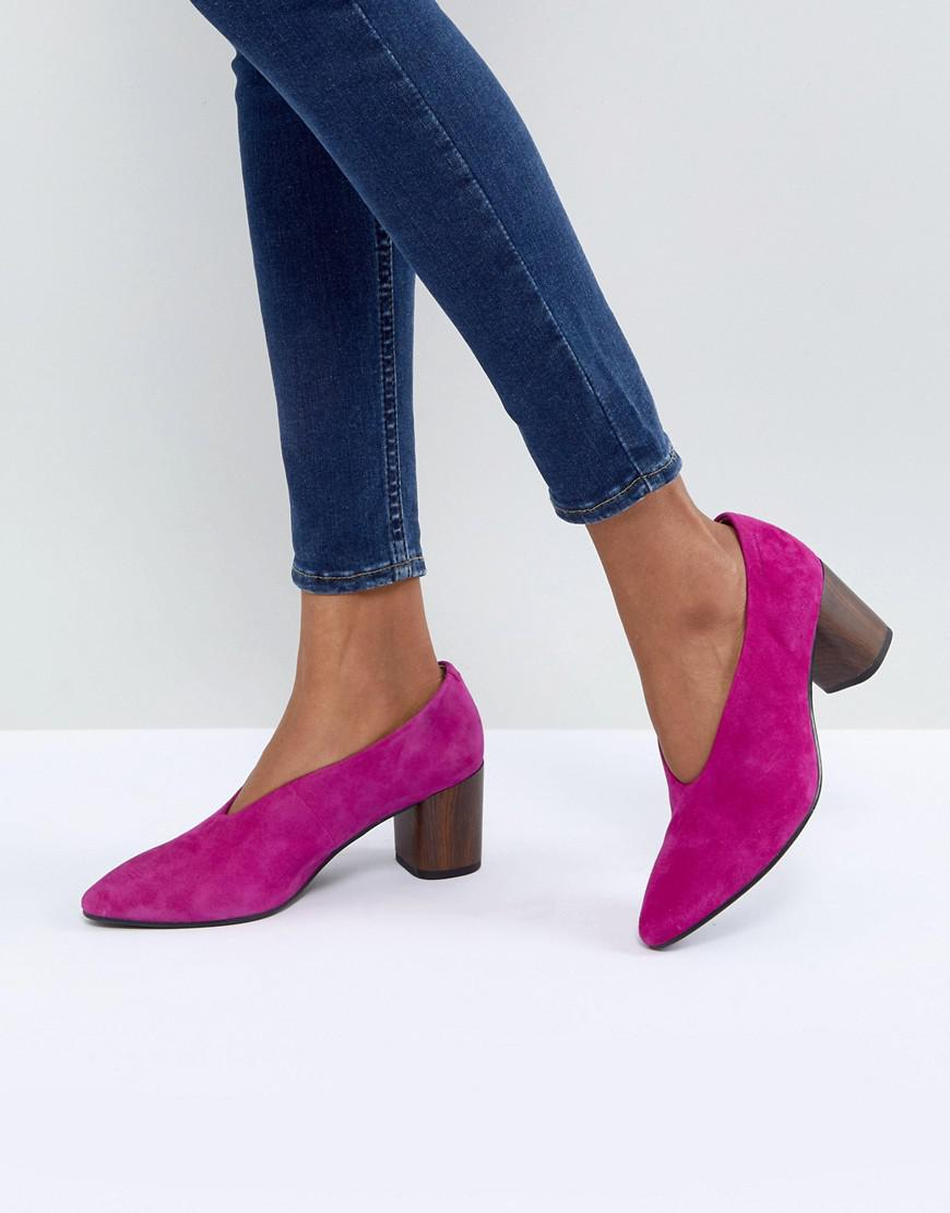 51c1d18929a1 Lyst - Vagabond Eve Purple High Vamp Wooden Heeled Shoes in Purple