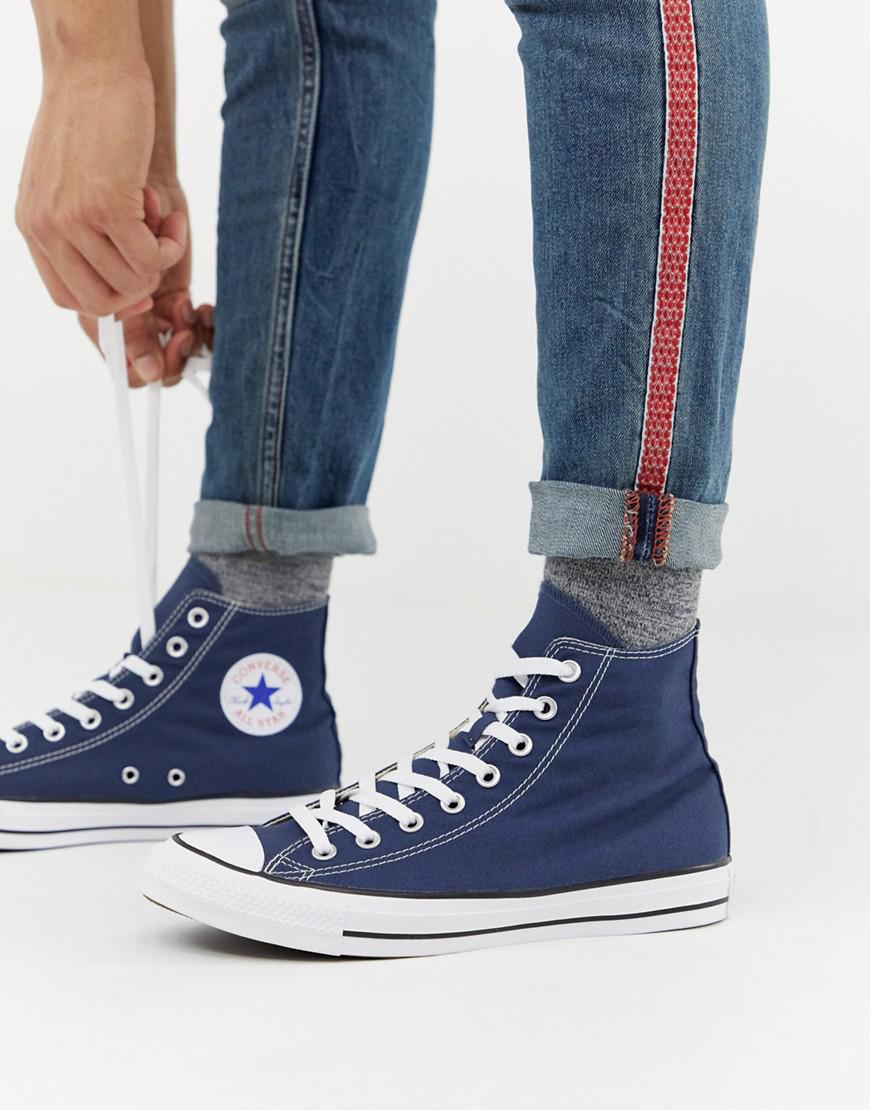 a3bbdb1cd528 Lyst - Converse Chuck Taylor All Star Hi Plimsolls In Navy M9622c in Blue  for Men