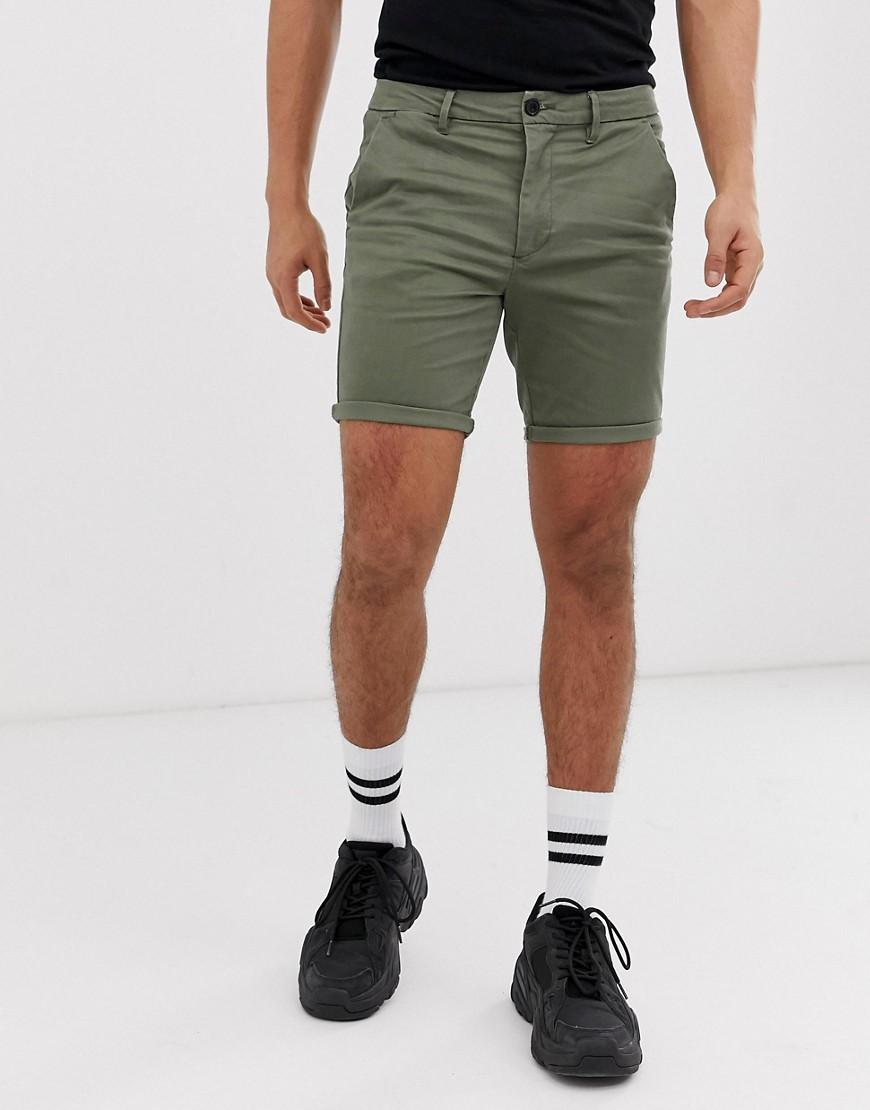 fcf5ec6220 River Island Shorts In Khaki in Green for Men - Lyst