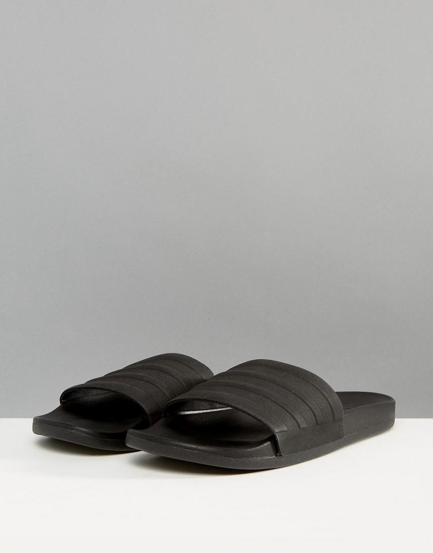 buy popular 4d494 5339a Lyst - adidas Adilette Cf+ Sliders In Black S82137 in Black