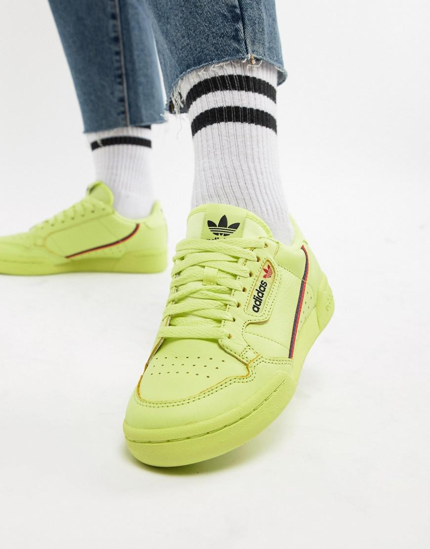 online store 75162 1fefc Lyst - adidas Originals Continental 80s Sneakers In Semi Frozen Yellow in  Green