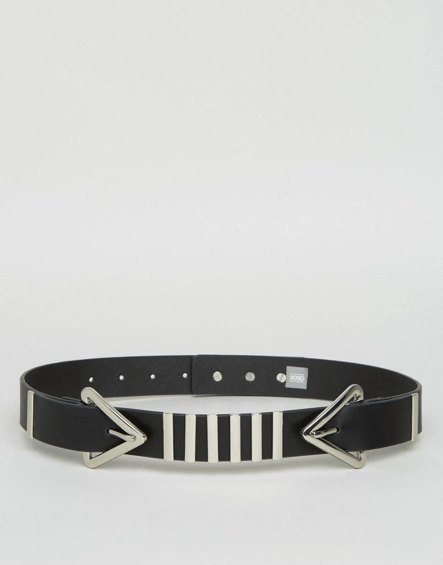 Bow Detail Waist Belt - Silver Asos En1M0m