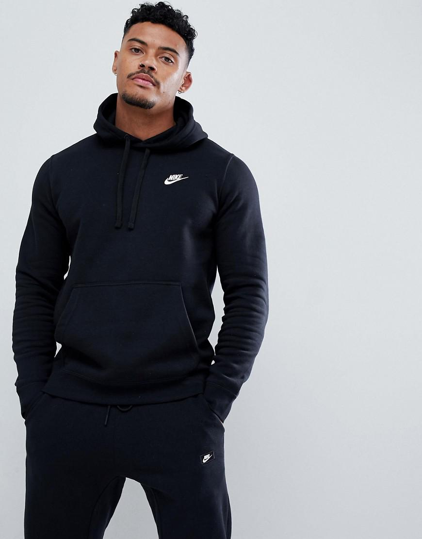 4740e999798f Nike Pullover Hoodie With Swoosh Logo In Black 804346-010 in Black ...