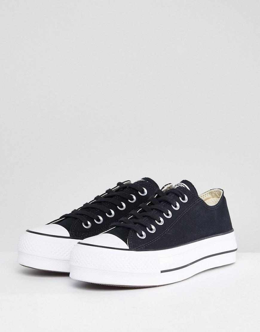 Lyst - Converse Chuck Taylor All Star Platform Ox Trainers In Black in Black 98419183d