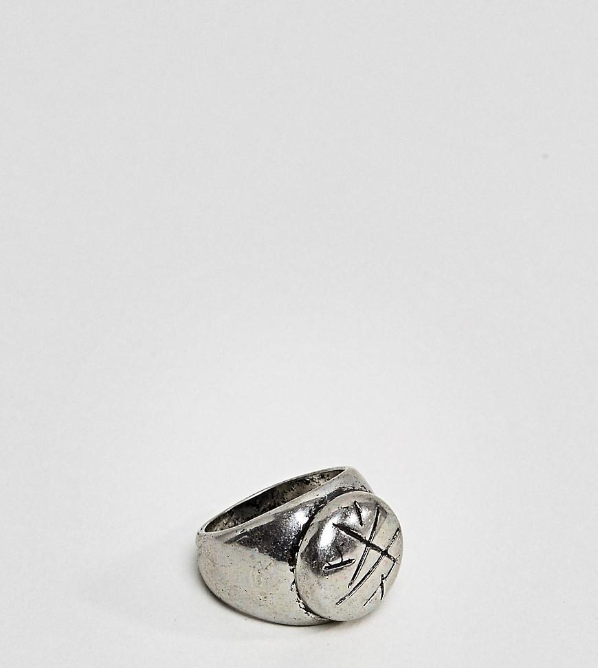 Reclaimed Vintage inspired signet ring with eye design In Silver exclusive at ASOS - Silver 5XQQi