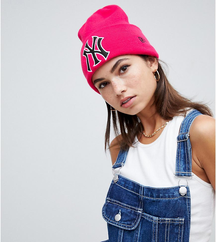 549eea3e3cc Ktz Blush Exclusive Rose Beanie With Retro Ny in Pink - Lyst