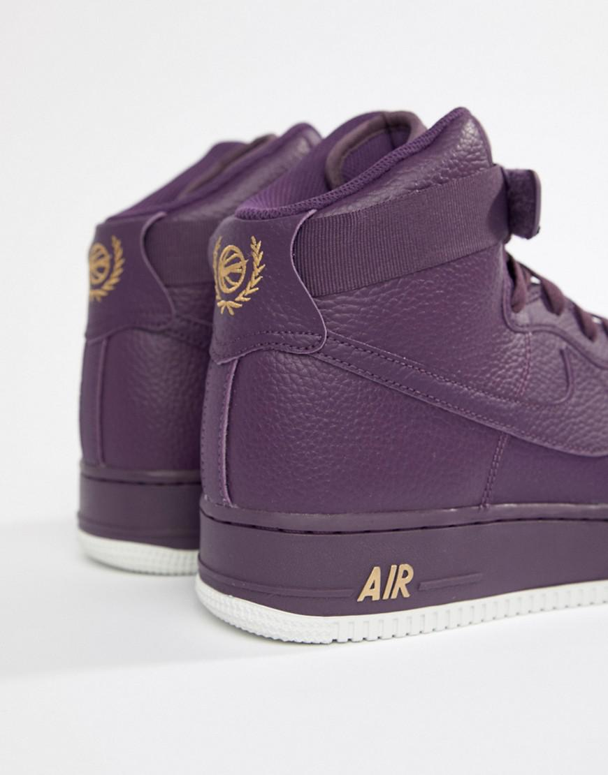 quality design 70931 6b812 Nike Air Force 1 High 07 Trainers In Purple 315121-500 in Pu