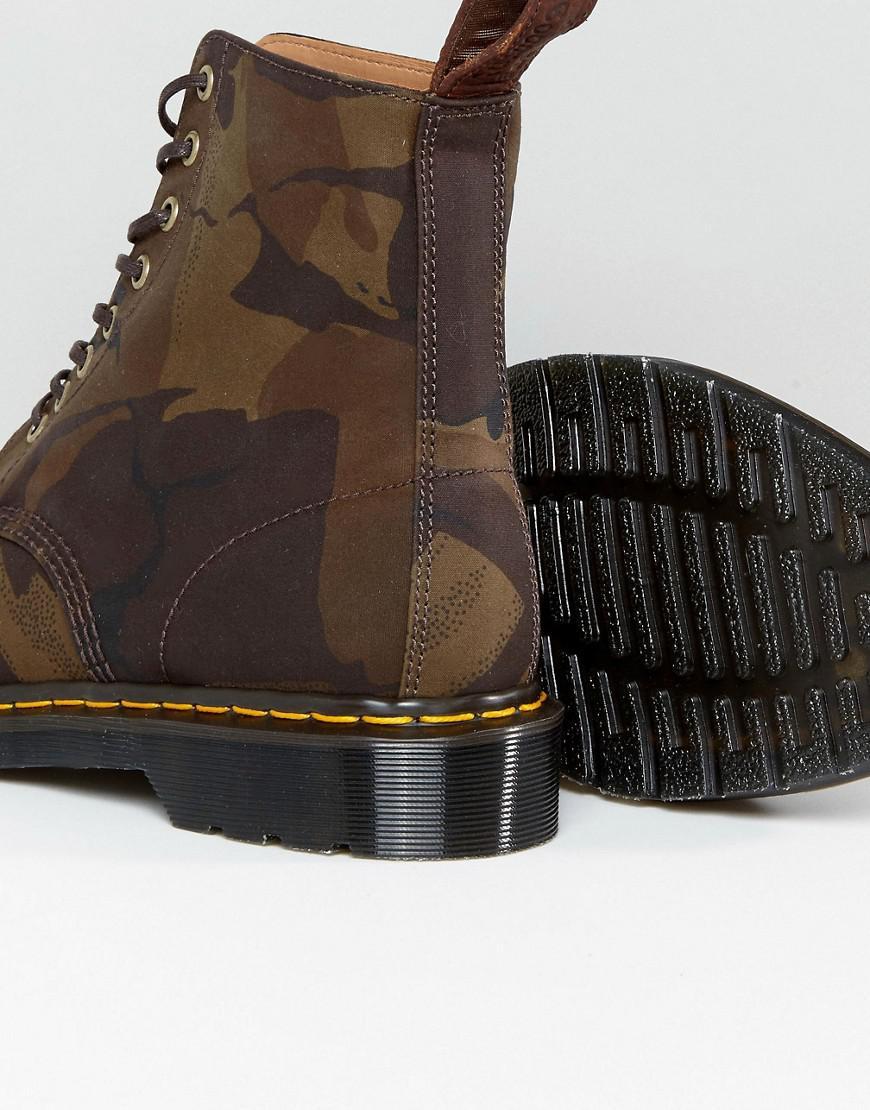 6cc9068d0ea9e Dr. Martens Made In England Pascal Camo 8-eye Boots in Green for Men ...