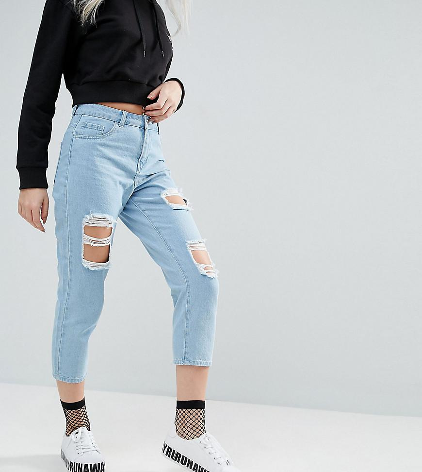 Liv Extreme Rip Straight Leg Jeans - Blue Noisy May Cheapest Factory Outlet Cheap Price zIG13DbG