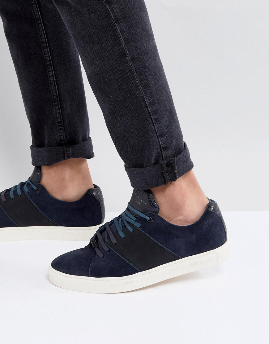 Genuine Cheap Price Eastbay Dannez Suede Trainers In Navy - Navy Ted Baker Cheap The Cheapest Best Store To Get Cheap Price Shop For aIUb7