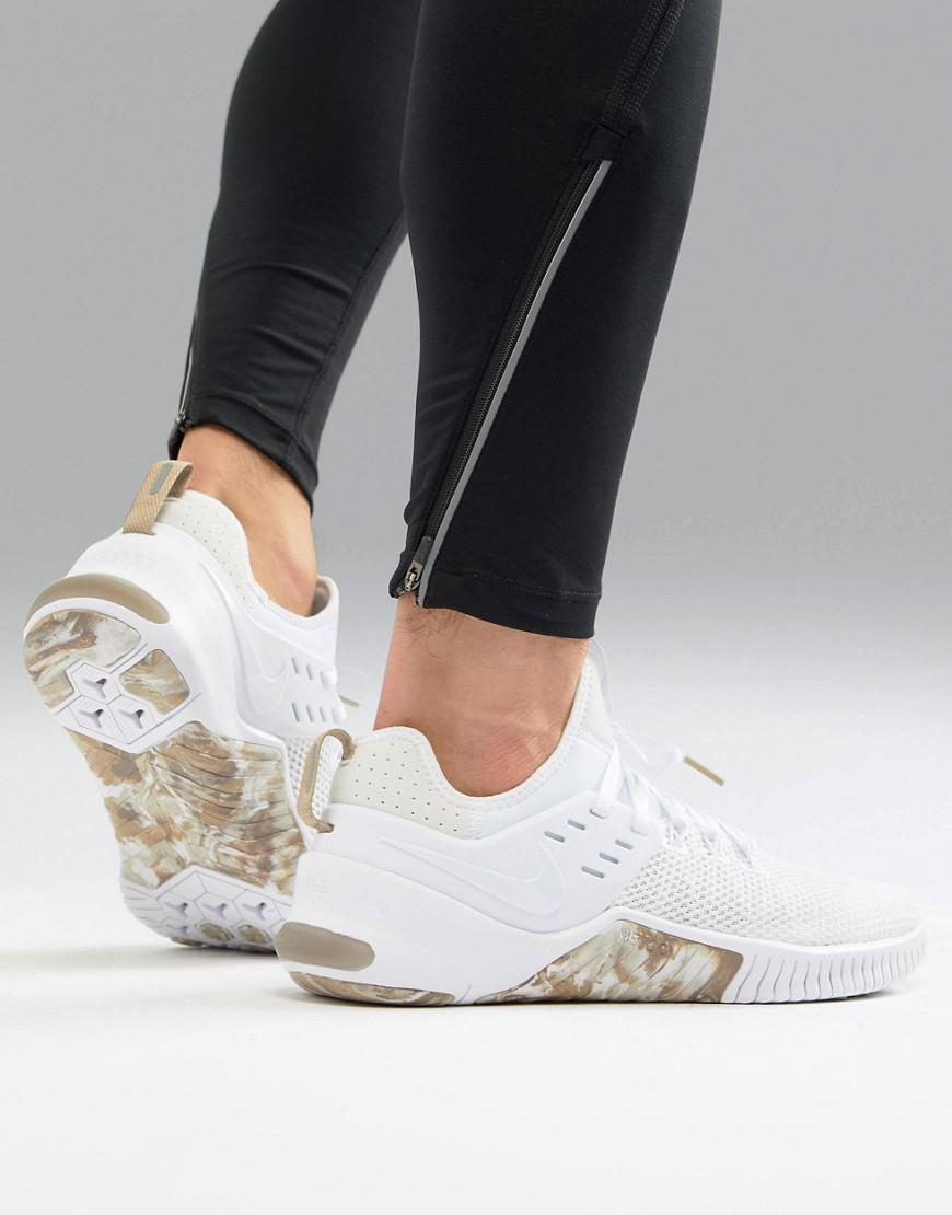 0655bade7d12 Nike Metcon Free Trainers In White Camo Ah8141-103 in White - Lyst