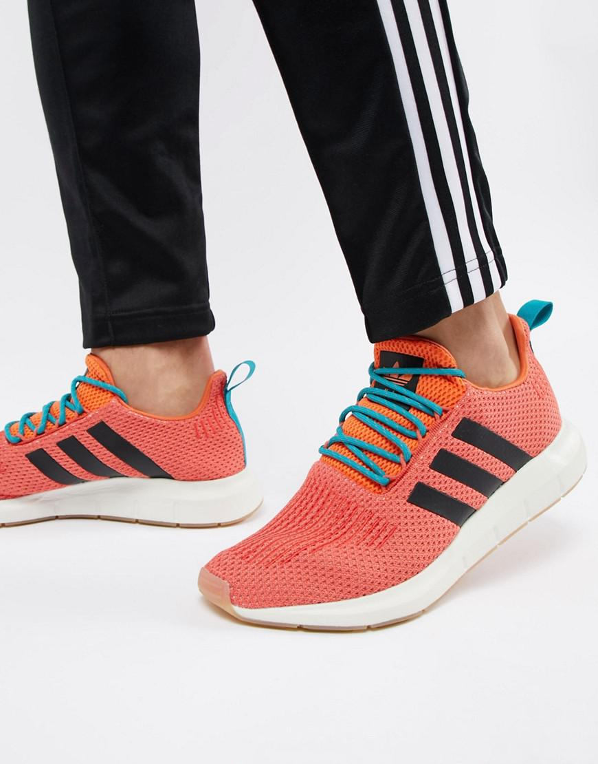3a32c6e4e Lyst - adidas Originals Swift Run Summer Sneakers In Orange Cq3086 ...