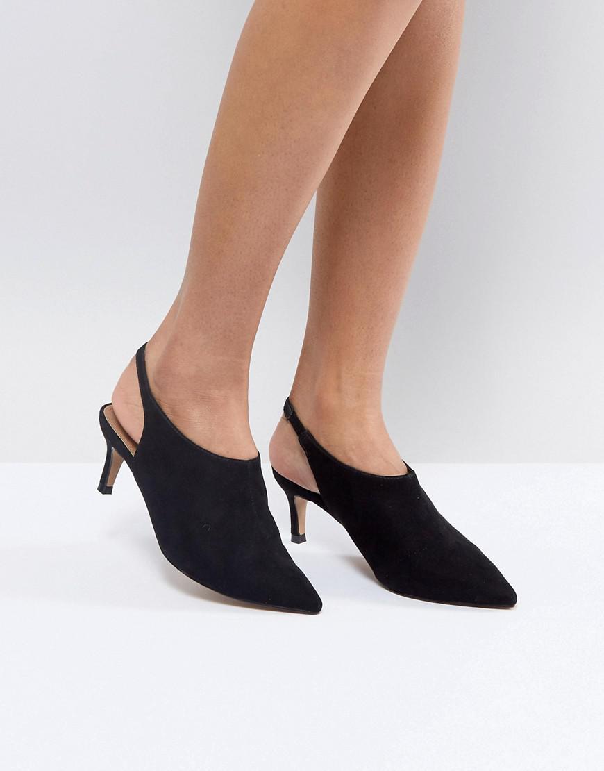 SOLUTION Slingback Kitten Heels - Black Asos X0w10XNy