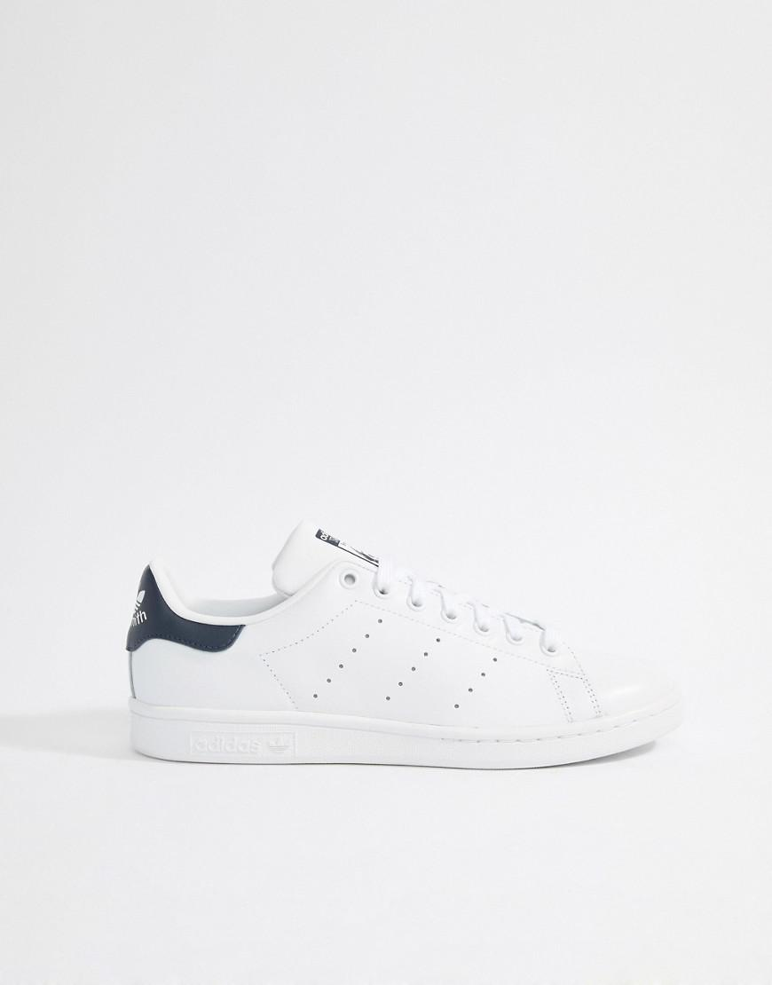 aeac4bbf7b1d adidas Originals Stan Smith Leather Sneakers In White M20325 in White for  Men - Lyst