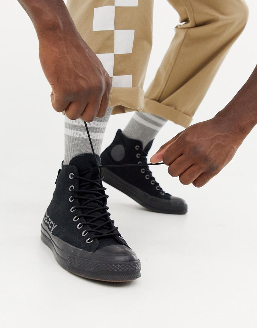 Converse. Men s Chuck Taylor All Star  70 Waterproof Hi Trainers In Black  162350c faac5ec6e