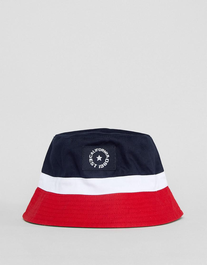 cdc8a9b2447 Asos Bucket Hat In Colour Block Design in Blue for Men - Lyst