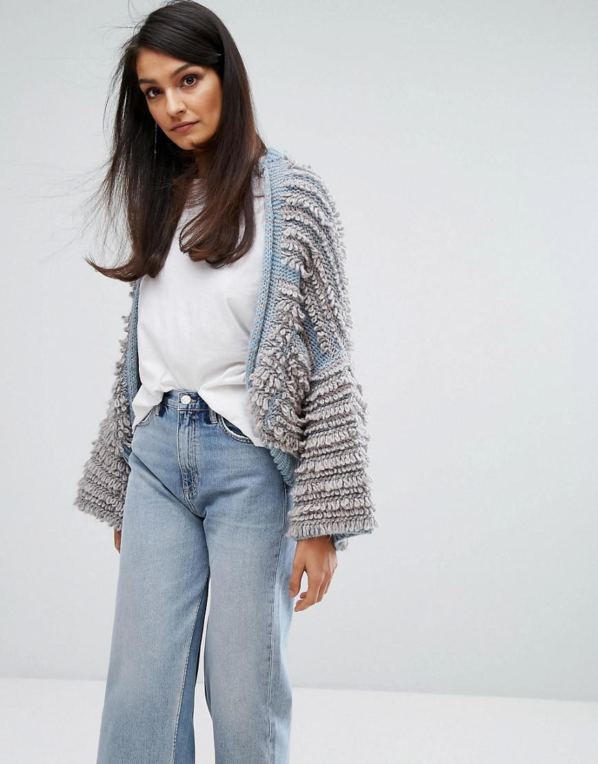 0ed06359c91 M.i.h Jeans M.i.h Jeans Shaggy Knit Cardigan in Gray - Lyst