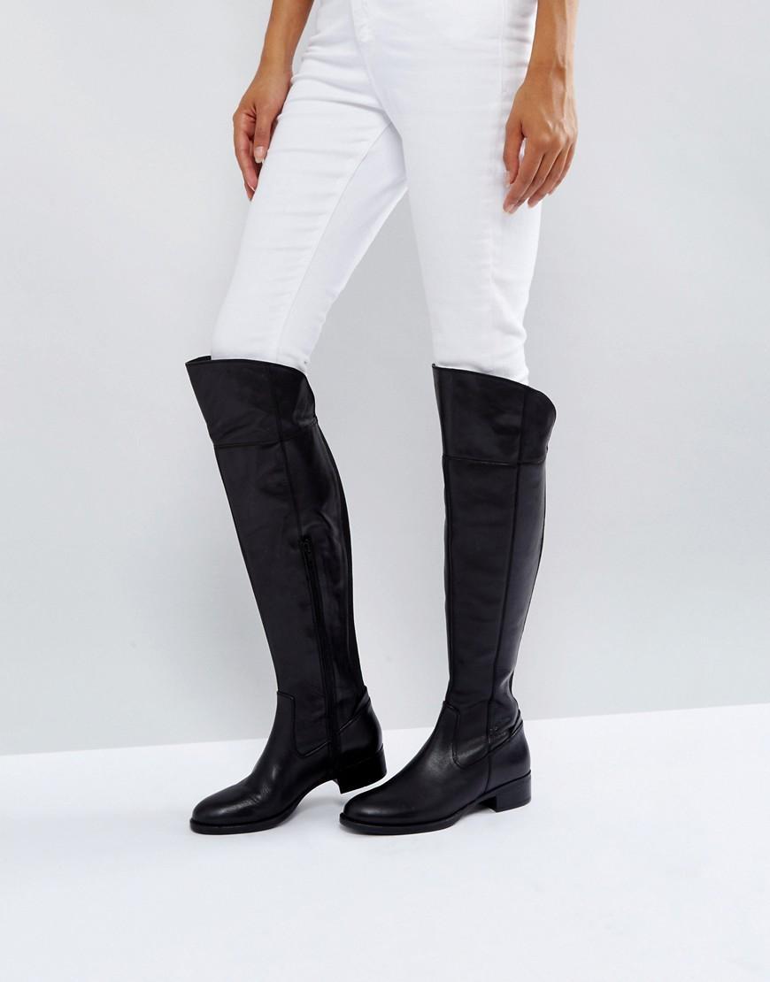 Lyst Dune Teigen Knee High Boots In Black