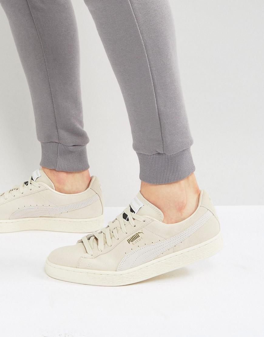 new concept 46ace 36b4c PUMA Suede Classic Trainers In Beige 36324229 in Natural - Lyst