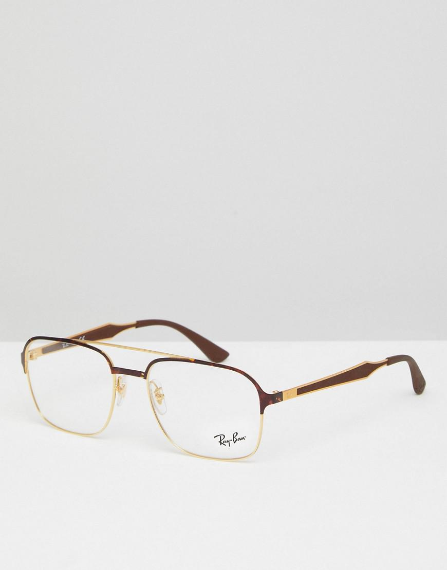 6d5fa2f653f4 ... ebay ray ban 0rx7159 wayfarer clear lens glasses in tort 50mm in brown  8ace0 7ac6d