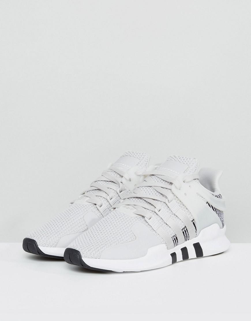 brand new 3c7b4 86947 Lyst - adidas Originals Eqt Support Adv Trainers In White By