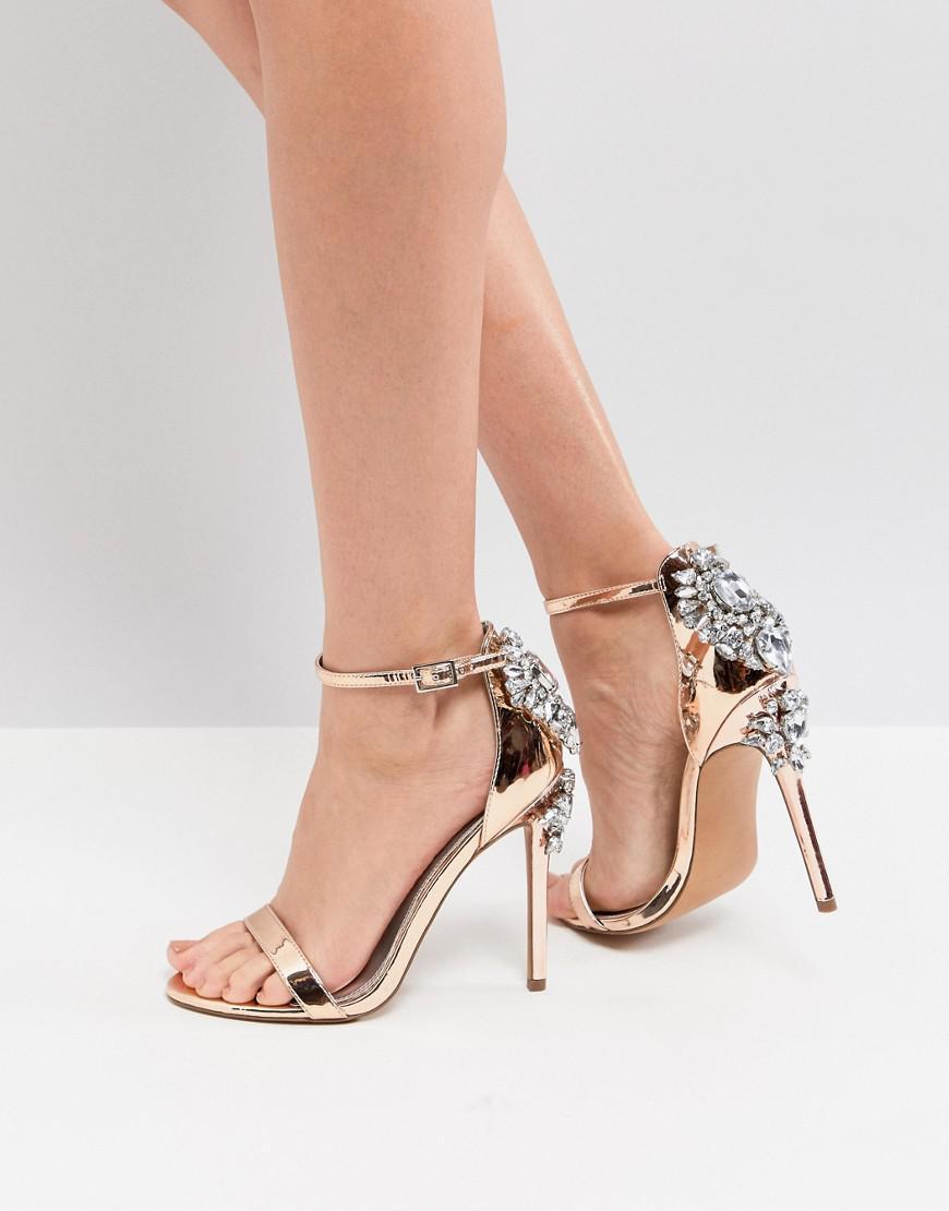 ASOS HIGH ROLLER Embellished Heeled Sandals dRZgzE