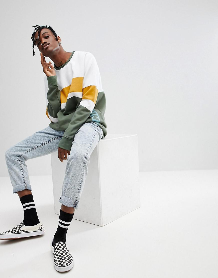 6ac2184c68af Hilfiger Denim Tommy Jeans Oversized Sweatshirt Colourblock Stripe ...