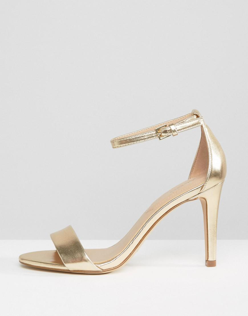 015ecc838c4d Lyst - ALDO Camy Gold Metallic Strap Sandals in Metallic