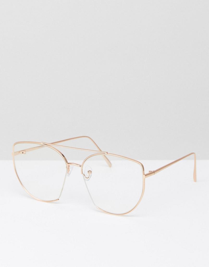 Lyst - Lunettes yeux de chat style intello à verres transparents ... 7b1065117162