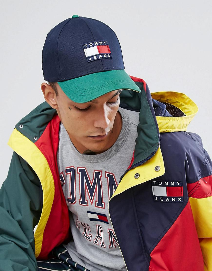 93e71e39ec3d1 Hilfiger Denim Tommy Jeans 90 s Capsule Colourblock Baseball Cap In ...