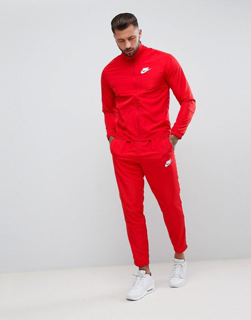 on sale 2d0ad a1ead Lyst - Survtement tiss Nike pour homme en coloris Rouge