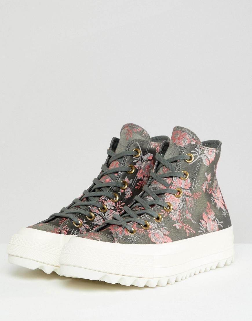8b13fd02df2 Lyst - Converse Chuck Taylor All Star Hi Lift Ripple Sneakers In Floral