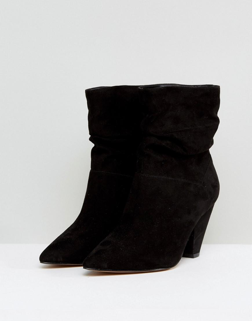 d3b88ce06d9b ASOS Reeves Wide Fit Slouch Heeled Ankle Boots in Black - Lyst