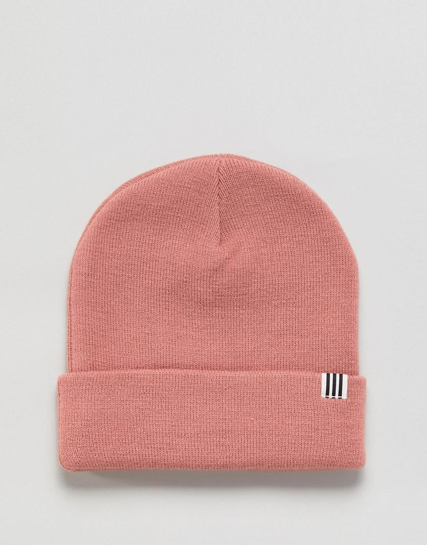 9f9d32df19122 ... new style lyst adidas originals high beanie with trefoil logo in ash  pink in a8285 c9e31