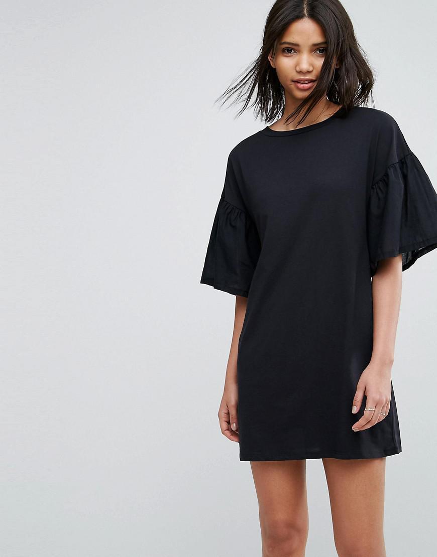 Vero Moda. Women's Black Oversize Sleeve Shift Dress