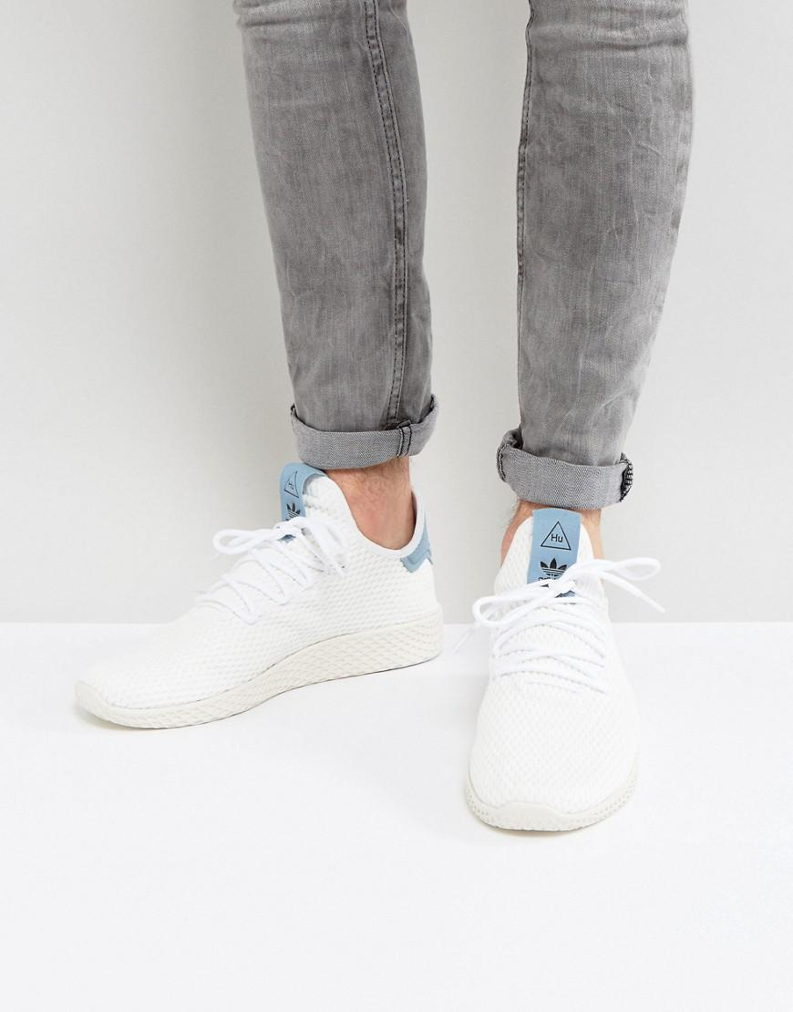 58859ed55 adidas Originals X Pharrell Williams Tennis Hu Trainers In White ...