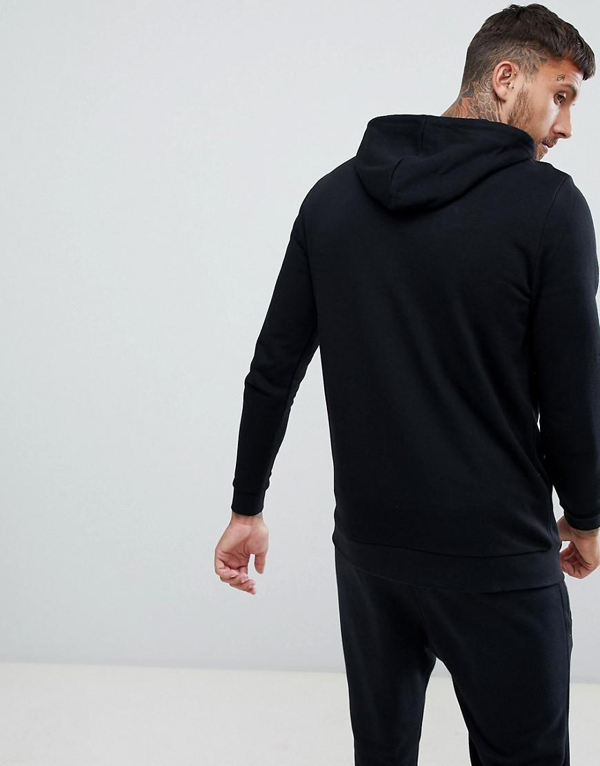 933b89b340fdf Lyst - Hoodie long fermeture clair Asos pour homme en coloris Noir