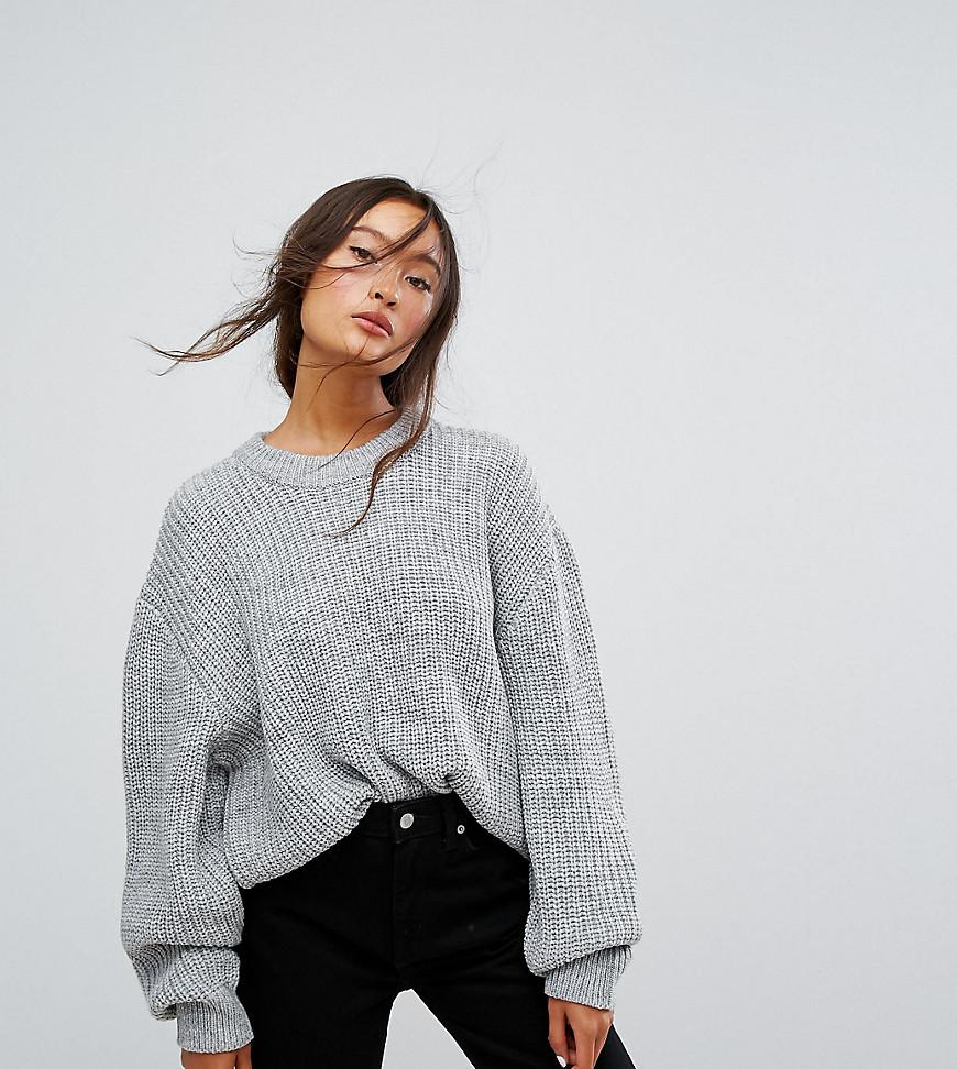 21093d2877 Weekday Huge Knit Sweater in Gray - Lyst