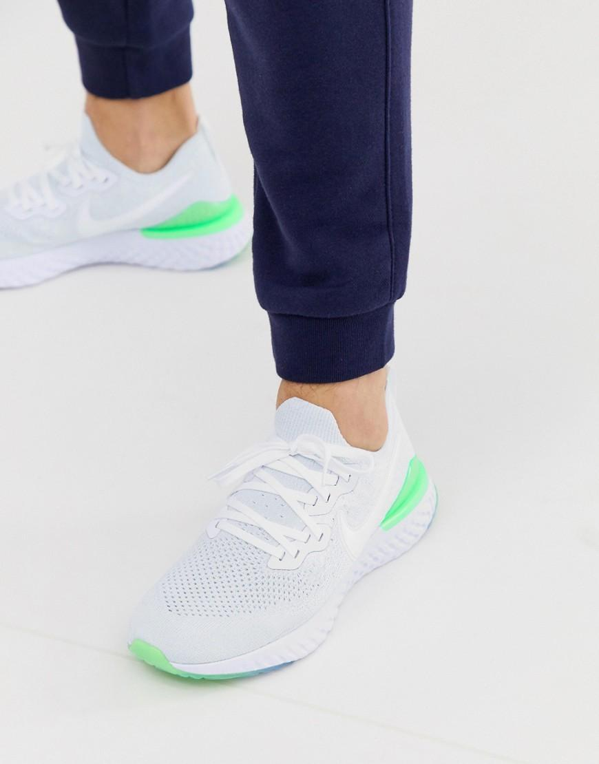 519f744a9c51 Nike Epic React 2 Flyknit Trainers In White in White for Men - Lyst