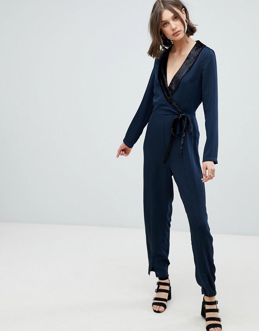 69fac0e092b Lyst - Vero Moda Tux Jumpsuit in Blue