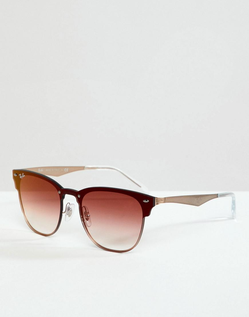 2b80506343 Ray-Ban 0rb3576 Clubmaster Sunglasses in Pink for Men - Lyst