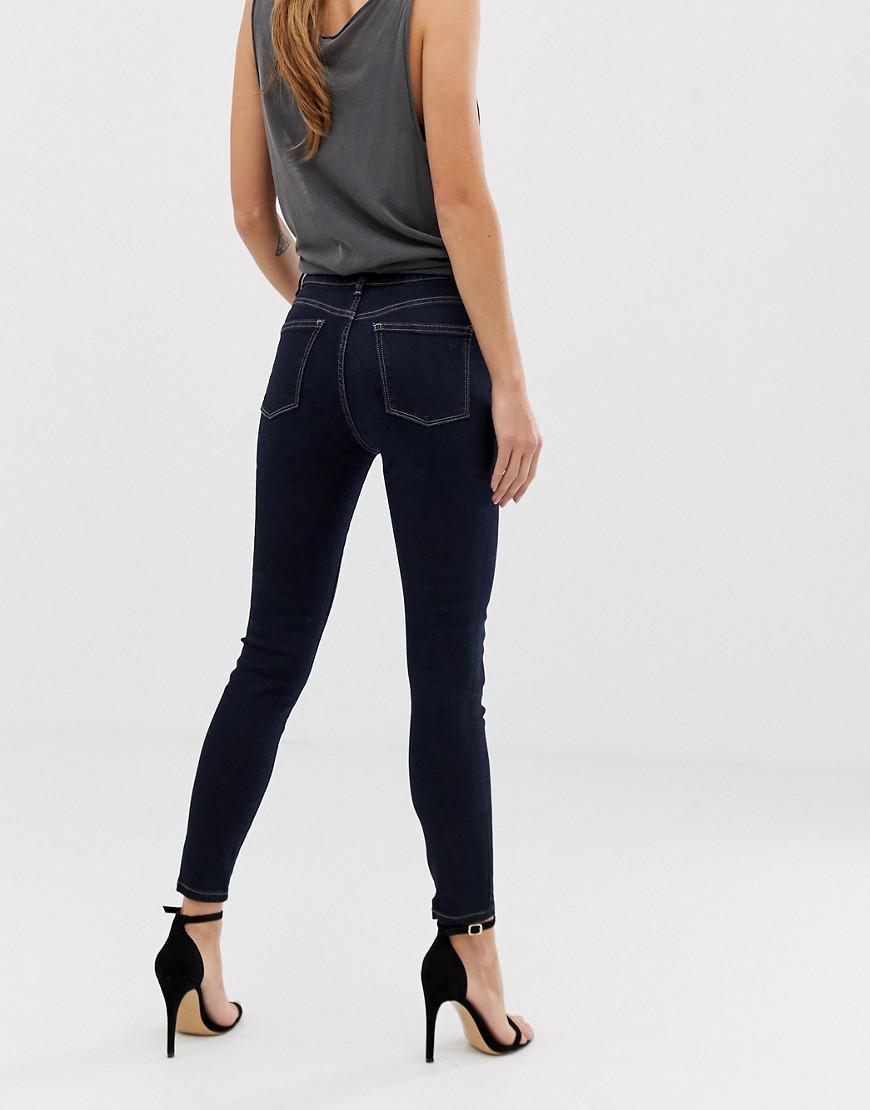 ce2613ff04f4b DL1961 Chrissy Ankle Grazer Skinny Jean in Black - Lyst
