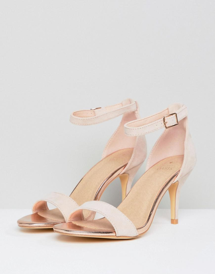 c513573acd6c Oasis Barely There Heeled Sandals in Pink - Lyst
