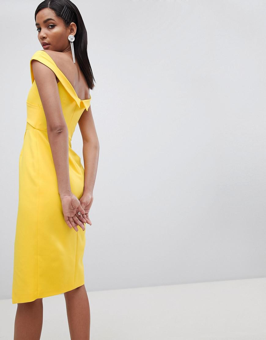2b7825a96f297 Gallery. Previously sold at: ASOS · Women's Yellow Dresses Women's Wrap  Dresses