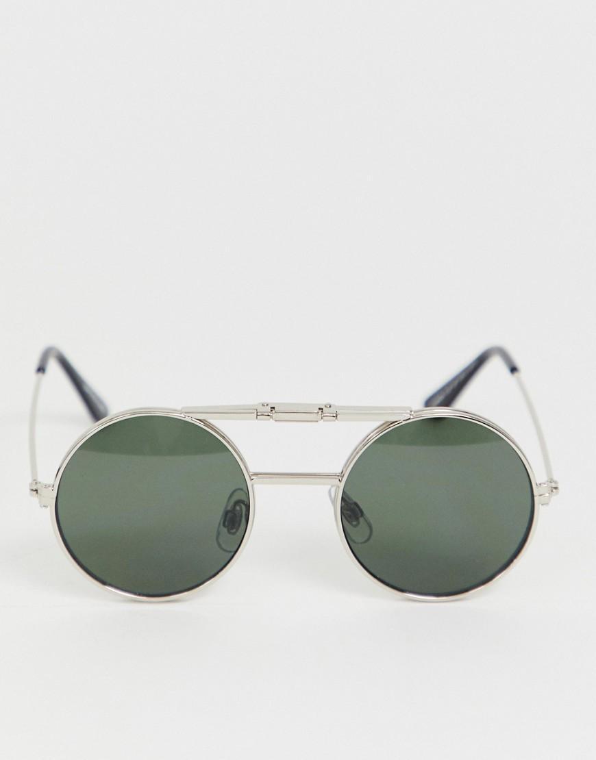 622898cb9 Spitfire Lennon Round Flip Up Sunglasses In Green in Metallic for Men - Lyst