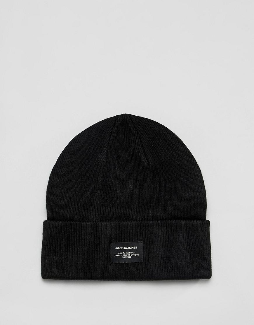 840fc49d4815a Jack   Jones Beanie in Black for Men - Lyst