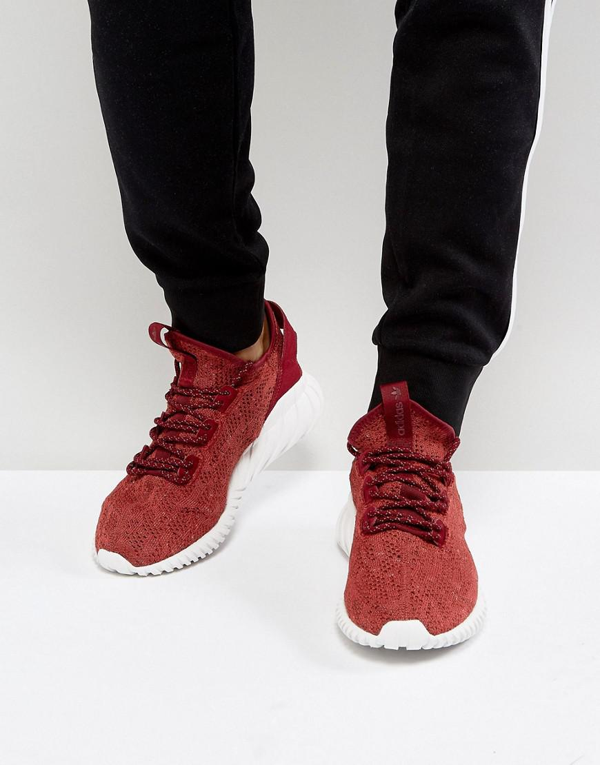 cc8dff52 adidas Originals Tubular Doom Sock Primeknit Sneakers In Red By3560 ...