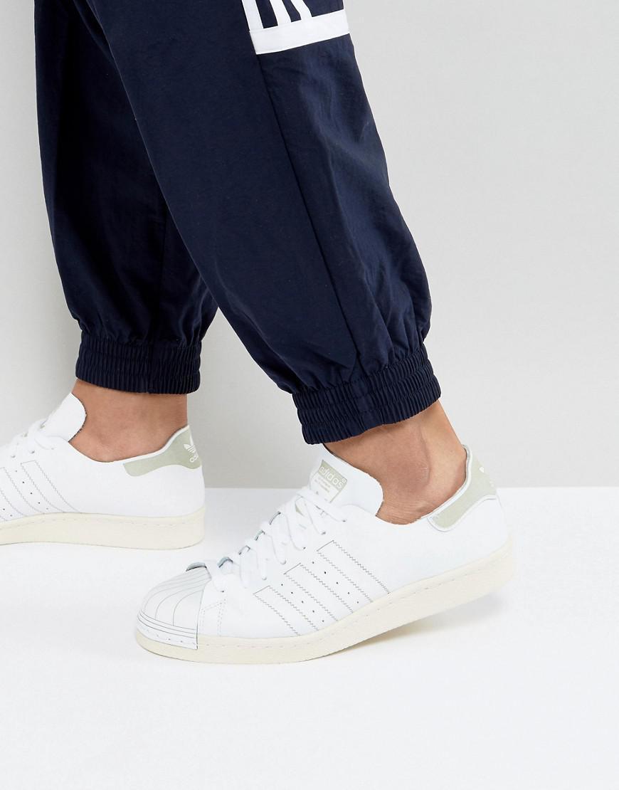 Lyst Adidas Superstar Scarpe Originali In Bianco Bz0109 In Bianco.
