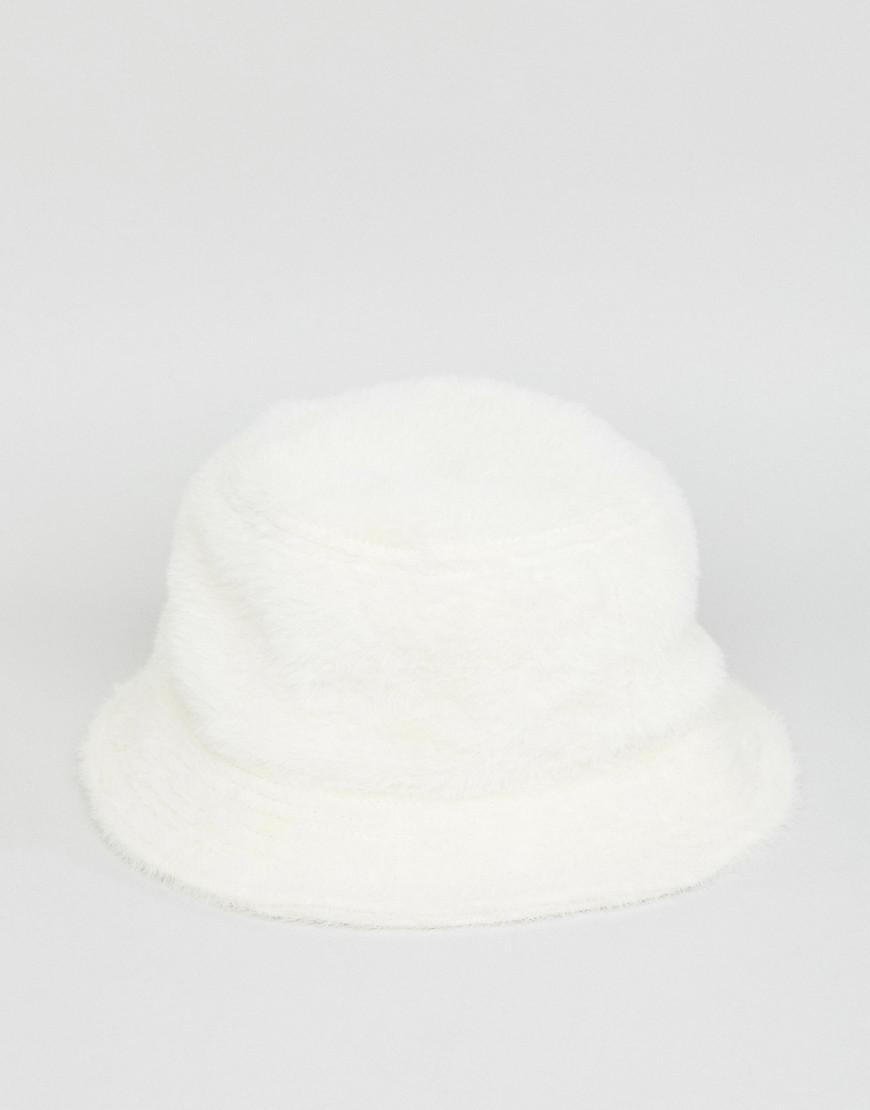 3048642c158 Lyst - ASOS Fluffy Bucket Hat